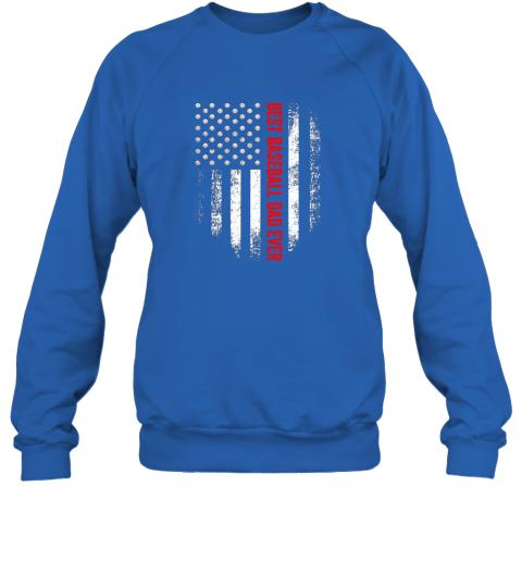 jjff vintage usa best baseball dad ever american flag daddy gift sweatshirt 35 front royal
