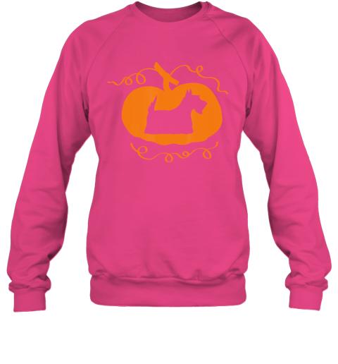 Happy Halloween Scottish Scottie Terrier Dog Pumpkin Sweatshirt