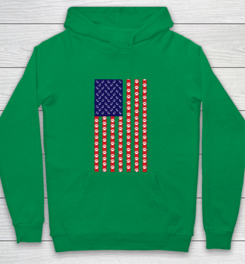 Rugby Dog Lover American Flag Youth Hoodie 4