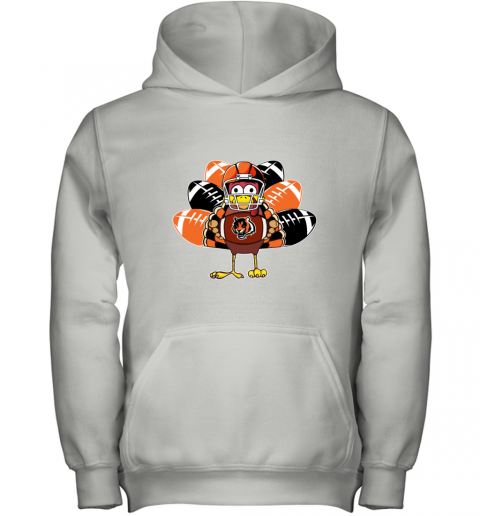 Cincinnati Bengals  Thanksgiving Turkey Football NFL Youth Hoodie