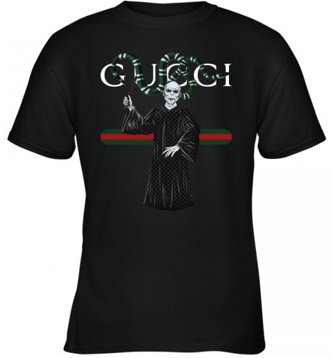 j5ry gucci voldemort and nagini harry potter shirts youth t shirt 26 front black