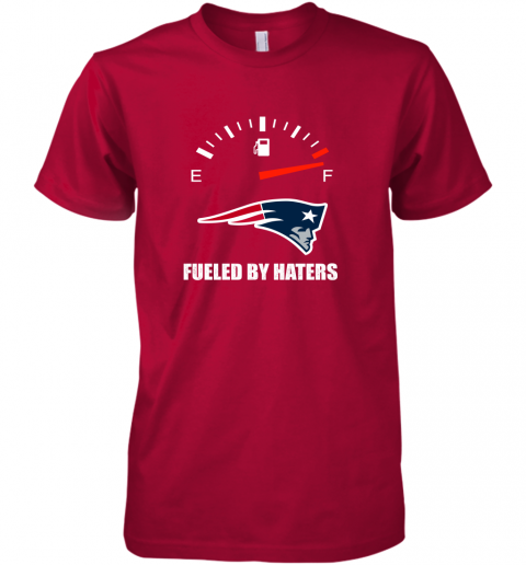 r8ks fueled by haters maximum fuel new england patriots premium guys tee 5 front red