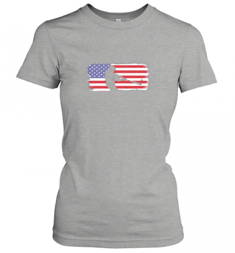 vovp usa american flag baseball player perfect gift ladies t shirt 20 front ash