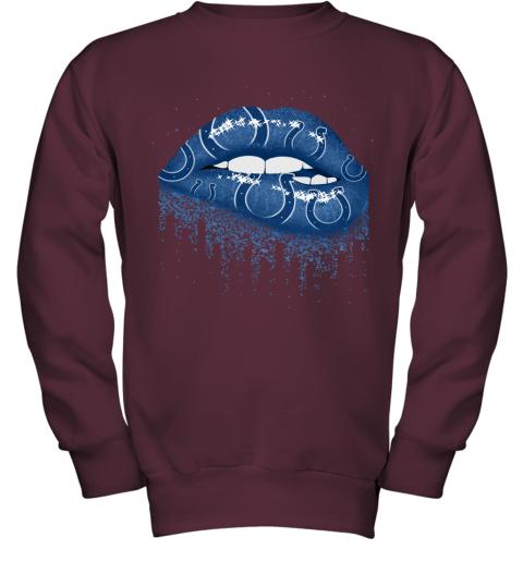 Biting Glossy Lips Sexy Indianapolis Colts NFL Football Youth Sweatshirt