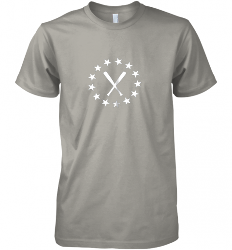 zrsr baseball with bats shirt baseballin player gear gifts premium guys tee 5 front light grey