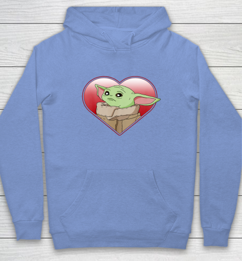 Star Wars The Mandalorian The Child Valentine Heart Portrait Hoodie 16