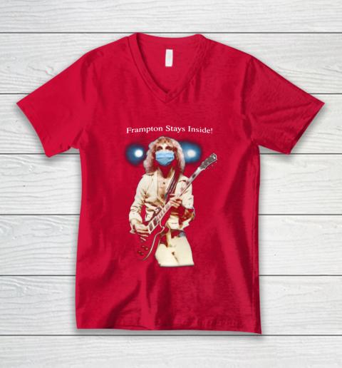 Peter Frampton Covid Stays Inside V-Neck T-Shirt 6