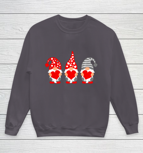 Gnomes Hearts Valentine Day Shirts For Couple Youth Sweatshirt 5