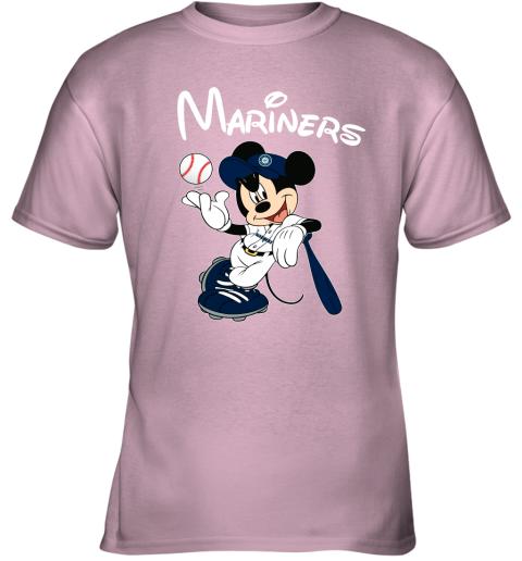 tq4g baseball mickey team seattle mariners youth t shirt 26 front light pink