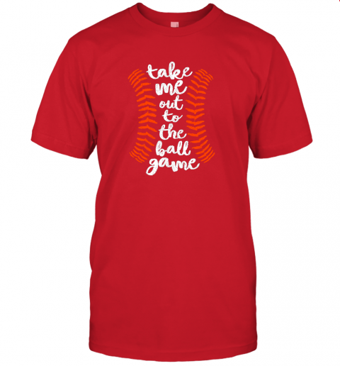 nqoq take me out ball game shirt baseball song orange black blue jersey t shirt 60 front red