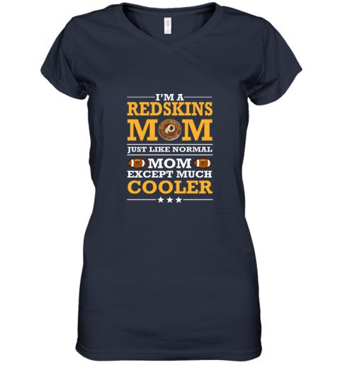 pj0o i39 m a redskins mom just like normal mom except cooler nfl women v neck t shirt 39 front navy