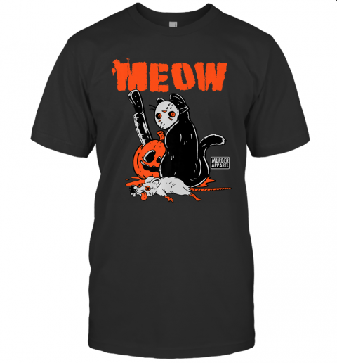 Killer Cat Halloween Pumpkin Vintage Premium T-Shirt
