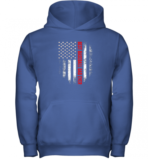cque vintage usa best baseball dad ever american flag daddy gift youth hoodie 43 front royal