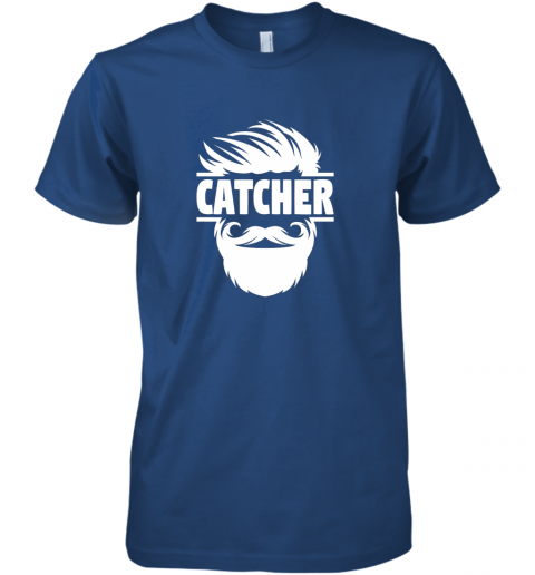 a5xz bearded baseball catcher premium guys tee 5 front royal