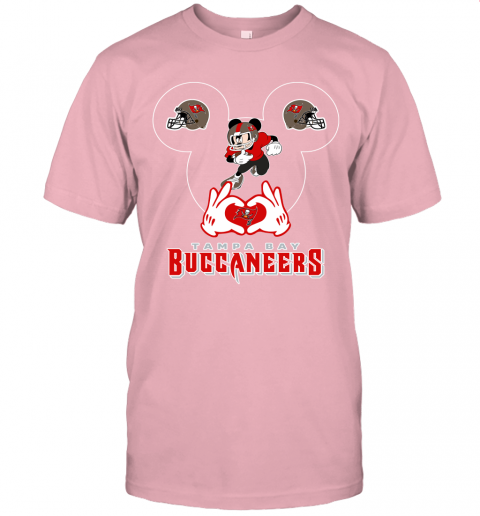 1zmc i love the buccaneers mickey mouse tampa bay buccaneers s jersey t shirt 60 front pink
