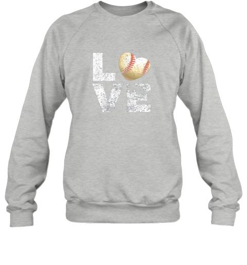 jean i love baseball funny gift for baseball fans lovers sweatshirt 35 front sport grey