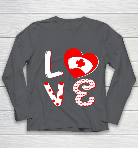 Medical Nurse Valentine Day Shirt Love Matching Youth Long Sleeve 6