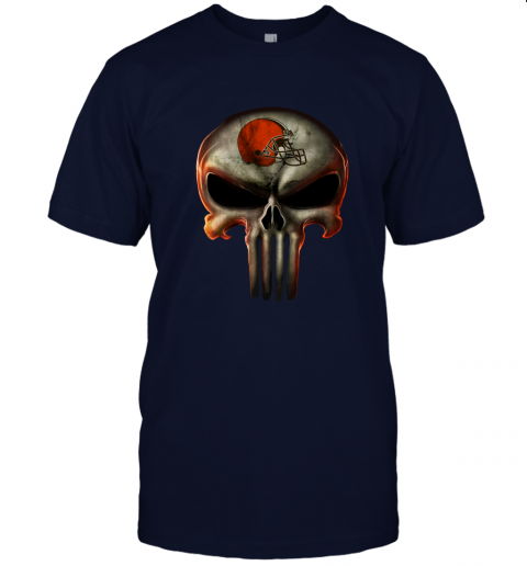 aa4h cleveland browns the punisher mashup football jersey t shirt 60 front navy
