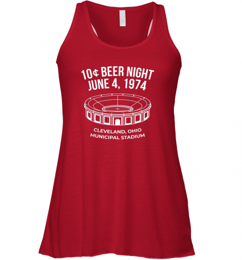 cqnp cleveland baseball shirt retro 10 cent beer night flowy tank 32 front red