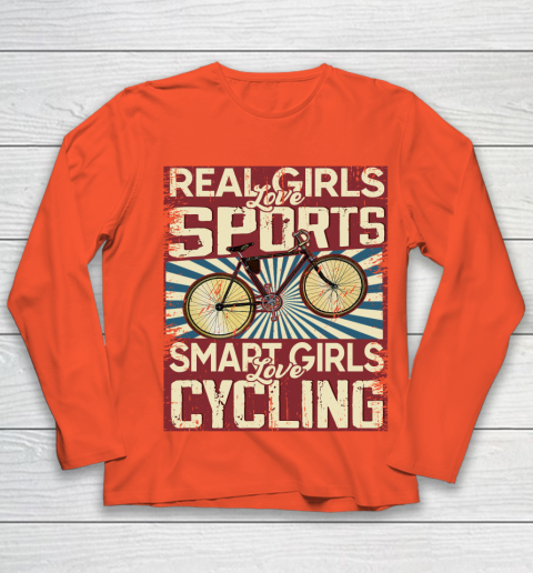 Real girls love sports smart girls love Cycling Youth Long Sleeve 3