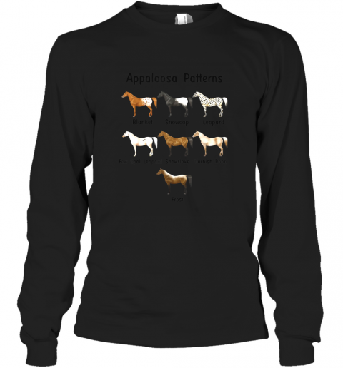 Appaloosa Patterns Gift For Riding Horse Lovers TShirt Long Sleeve T-Shirt