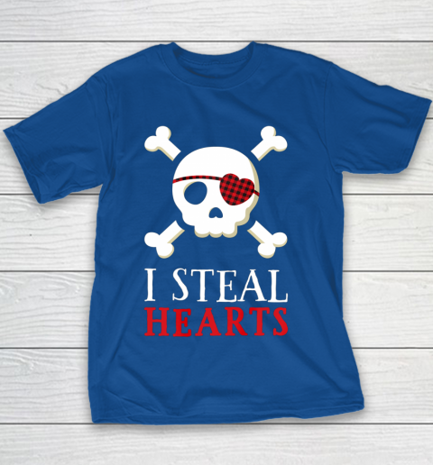 I Steal Hearts T Shirt Boy Girl Toddler Skull Valentine Gift Youth T-Shirt 6