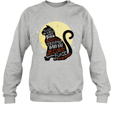 Twist The Bones And Bend The Back Cat Witch Halloween Spell Sweatshirt