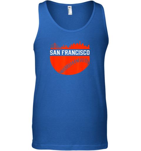 ntc0 san francisco baseball vintage sf the city skyline gift unisex tank 17 front royal