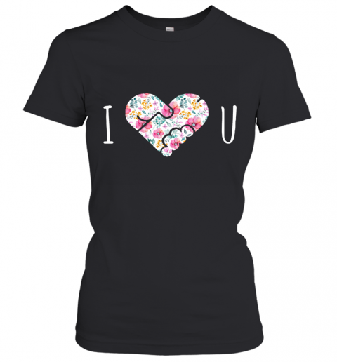 I Love You Floral Heartshape Masturbate Women's T-Shirt