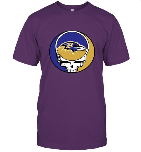 wlr2 nfl team baltimore ravens x grateful dead jersey t shirt 60 front team purple