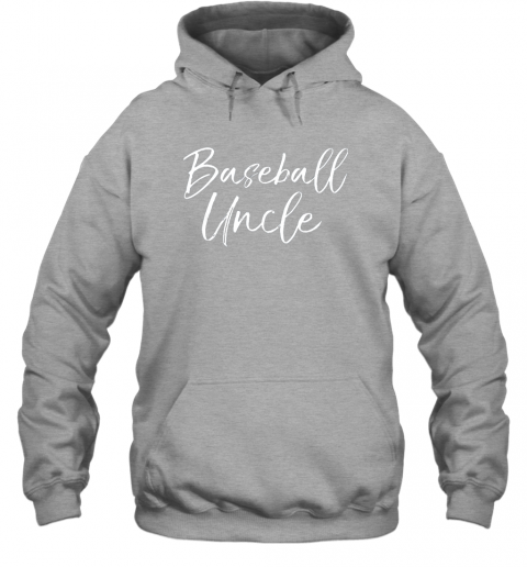 w8r2 baseball uncle shirt for men cool baseball uncle hoodie 23 front sport grey
