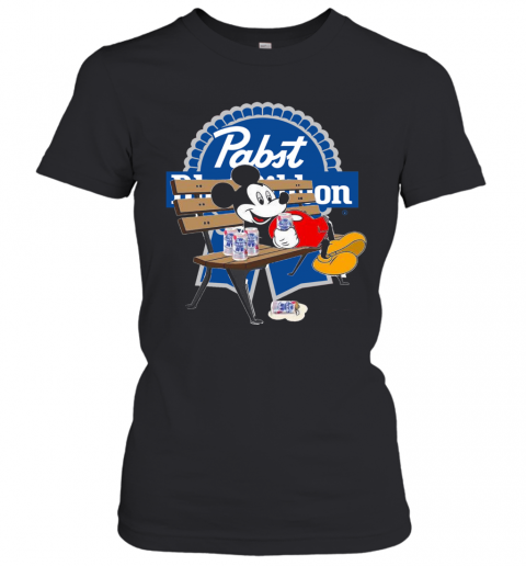 Mickey Mouse Drink Pabst Blue Ribbon Women's T-Shirt