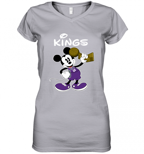Mickey Sacramento Kings Women's V-Neck T-Shirt