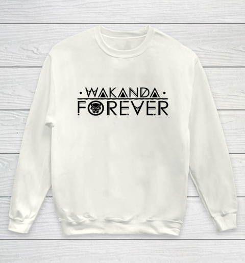 Marvel Black Panther Wakanda Forever Chest Graphic Youth Sweatshirt