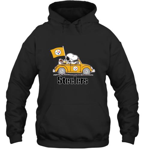 Snoopy And Woodstock Ride The Pittsburg Steelers Car Hoodie