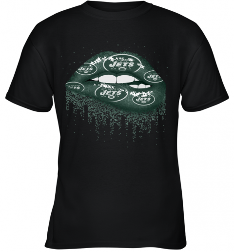 Sexy  Lips New York Jets NFL Youth T-Shirt