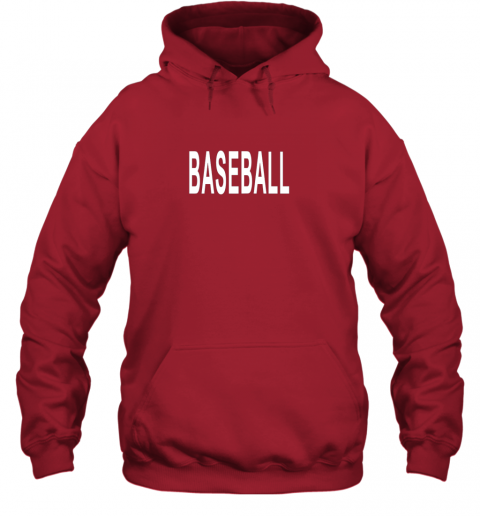 llvz shirt that says baseball hoodie 23 front red