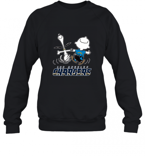 Snoopy And Charlie Brown Happy Los Angeles Charger Sweatshirt