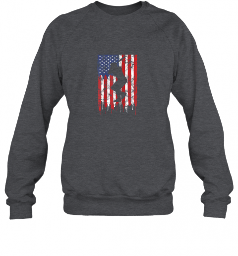 pjrv vintage patriotic american flag baseball shirt usa sweatshirt 35 front dark heather