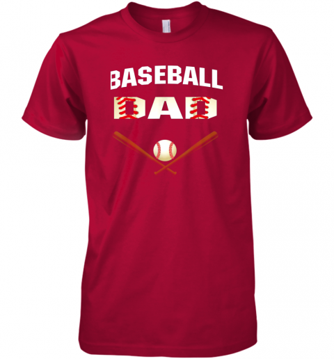 d0wu mens baseball dad shirtbest gift idea for fathers premium guys tee 5 front red