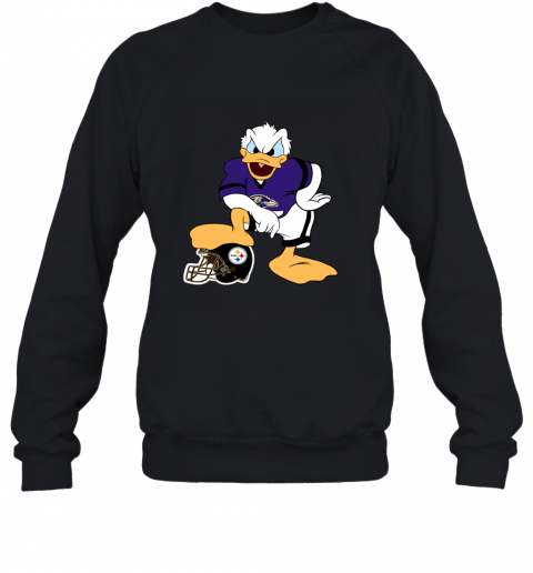 sflm you cannot win against the donald baltimore ravens nfl sweatshirt 35 front black