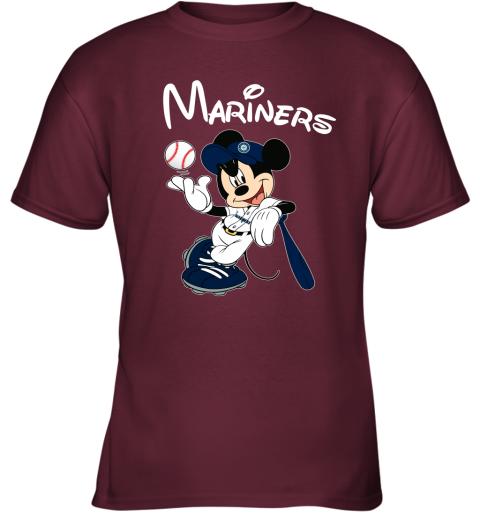tq4g baseball mickey team seattle mariners youth t shirt 26 front maroon
