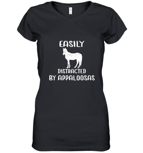 Appaloosa Horse Shirt Easily Distracted By Horse TShirt Women's V-Neck T-Shirt