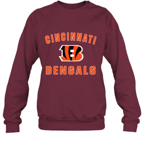 5onw cincinnati bengals nfl pro line gray victory sweatshirt 35 front maroon