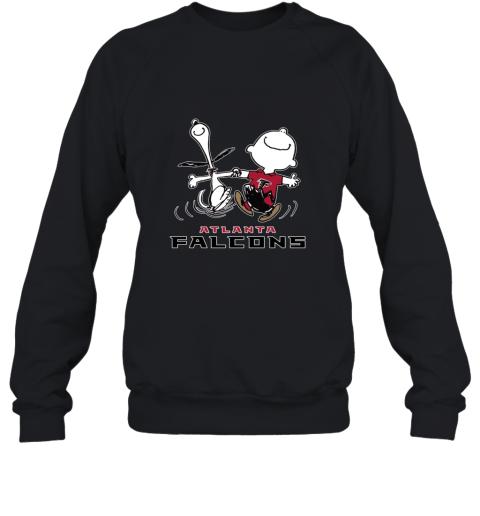 Snoopy And Charlie Brown Happy Atlanta Falcons NFL Sweatshirt