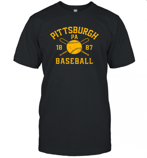 Vintage Pittsburgh Baseball Pennsylvania Pirate Retro Gift Unisex Jersey Tee
