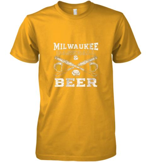 1kwr love milwaukee love baseball premium guys tee 5 front gold
