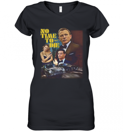 007 No Time To Die Women's V-Neck T-Shirt