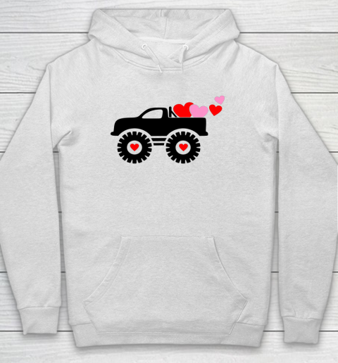 Valentine Monster Truck Loads of Love Hearts Shirt Gift Hoodie