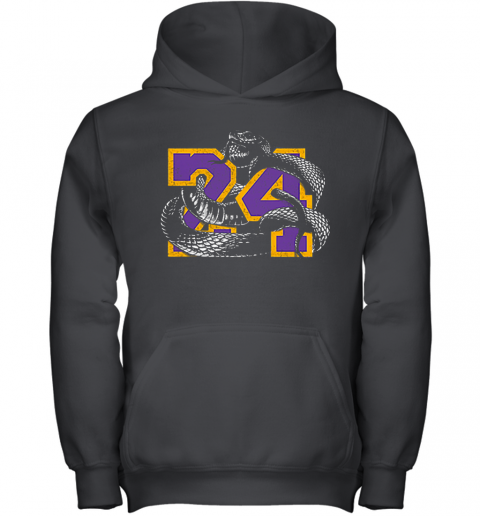 RIP 24 Kobe Bryant The Black Mamba Snake Youth Hoodie